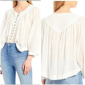 We The Free Cool Meadow Flowy Blouse M